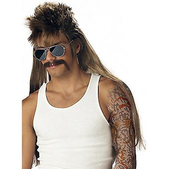Mississippi Mud Flap 80s Mullet Dirty Blonde Men Costume Wig