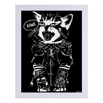 Unorthodox Collective Rawr Wooden Framed Print