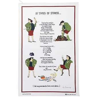 Humorous Tea Towel 'In Times of Stress'