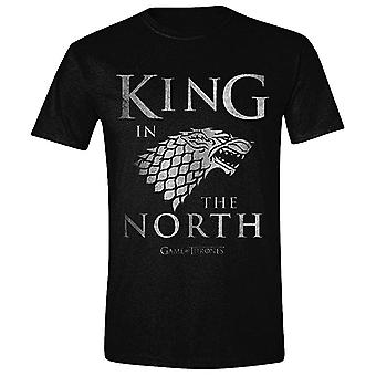 Men's Game of Thrones King In The North Distressed T-Shirt
