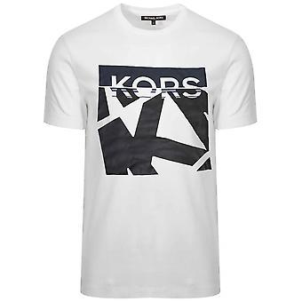 Michael kors hvit trykt logo T-skjorte