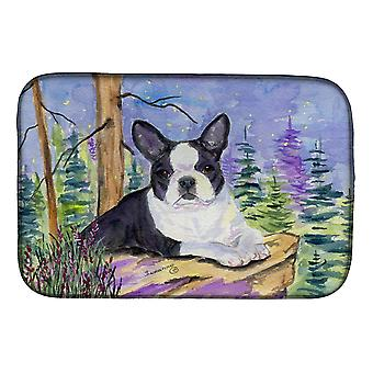 Carolines Treasures  SS8638DDM Boston Terrier Dish Drying Mat