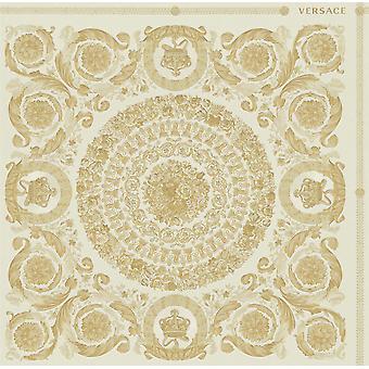 Versace Heritage Crema Oro Papel Pintado Barroca Ornament Metallic Paste Wall