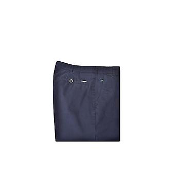 Meyer Roma Cotton Trousers Navy