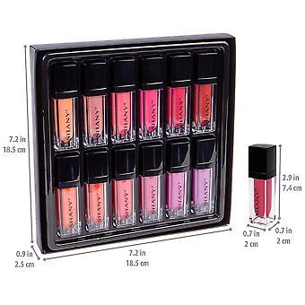 SHANY Leading Ladies Liquid Lipstick Set - Lápiz Labial Líquido resistente al agua y de larga duración con acabado mate - 12 colores variables