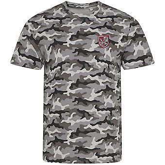 16 Air Assault Brigade-lisensiert britiske hæren brodert camouflage print T-skjorte