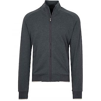 Z Zegna Dark Grey Zip Top