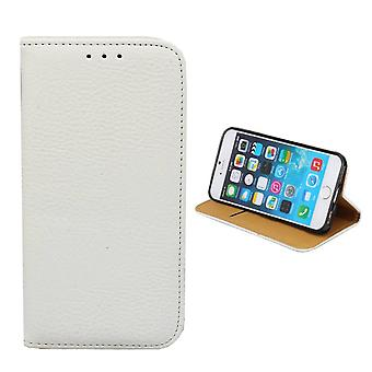 Bookcase PU leather Look for Apple iPhone 6/6S White