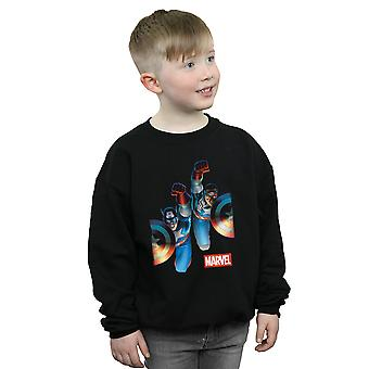 Marvel Boys Falcon And Captain America Side By Side Sweatshirt