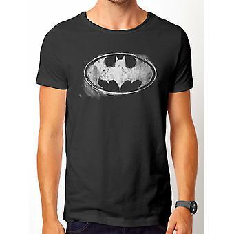 Batman-Logo Mono Distressed T-Shirt