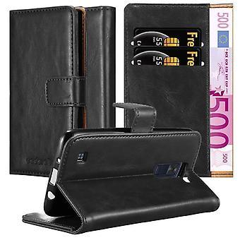 Cadorabo Hülle für LG K8 2016 Case Cover - Handyhülle mit Magnetverschluss, Standfunktion und Kartenfach – Case Cover Schutzhülle Etui Tasche Book Klapp Style