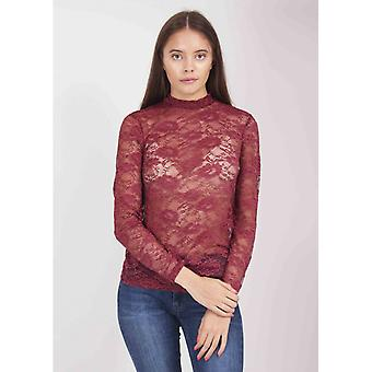 Saint Tropez Stretch Lace High Neck Top