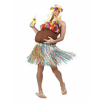 Hula Beach meisje JGA mannen kostuum Hawaii Fat Lady mens kostuum