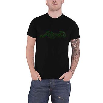 Poison T Shirt Vintage Band Logo distressed new Official Mens Black