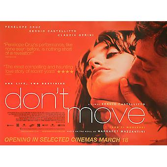 Don'T Move Original Cinema Poster