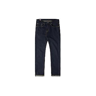 Edwin 'apos;Made In Japan'apos; Slim Tapered Green X White Selvage Jeans (Rinsed)