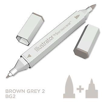 Illustrator van spectrum Noir enkele pen-bruin grijs 2