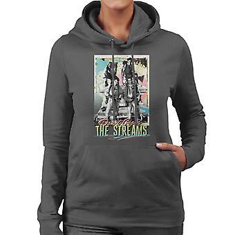 Ghostbusters Don't Cross The Streams Women's Hooded Sweatshirt