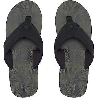 Animal Mens Jekyl Aop Pool Beach Slip On Sandals Thongs Flip Flops - Green