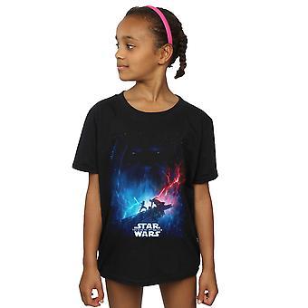 حرب النجوم الفتيات صعود فيلم سكاي ووكر ملصق تي شيرت