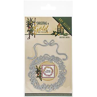 Find It Trading Amy Design Die-Wreath, Christmas In Gold