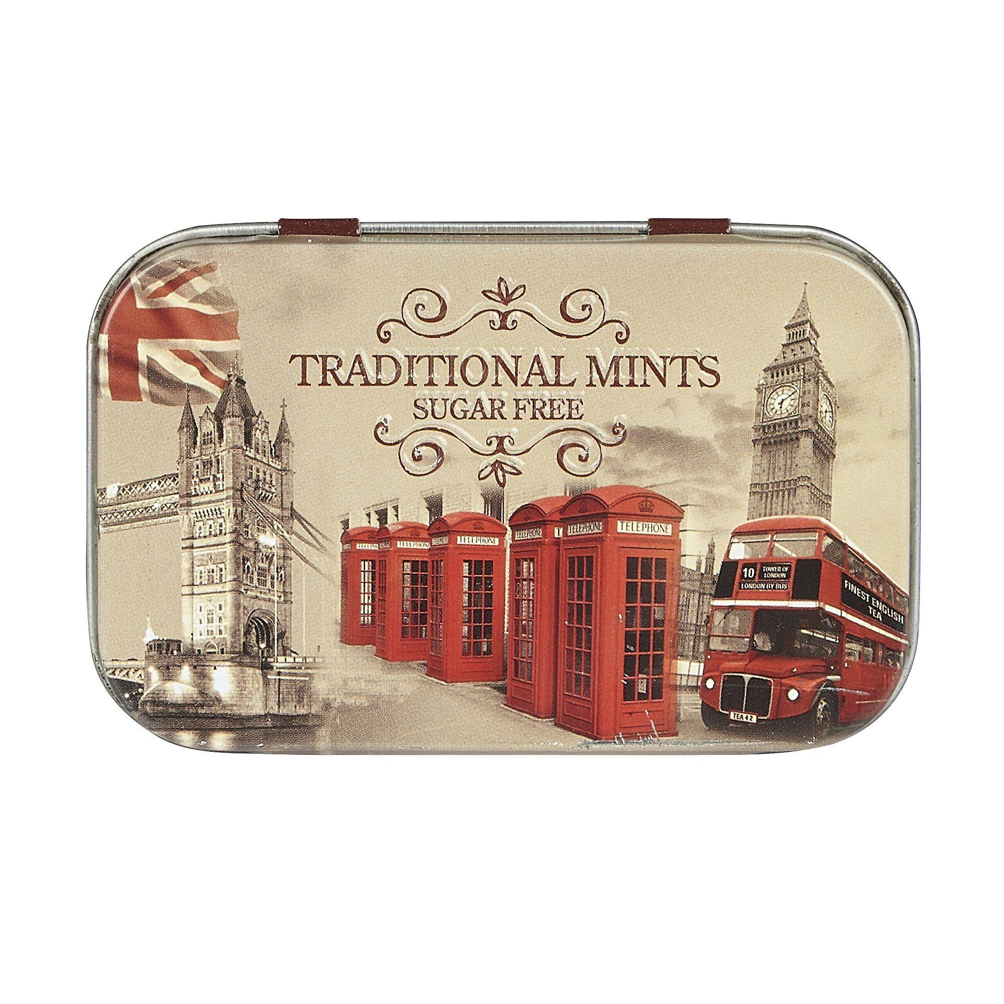 Vintage england sugar free mints pocket tin 35g