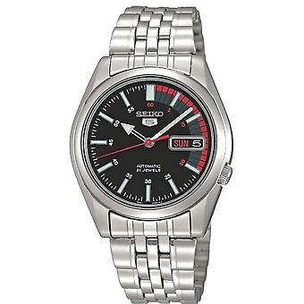 Seiko 5 Automatic Black Speedometer Dial Men's Watch SNK375K1