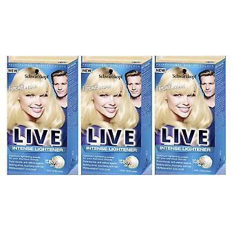 Schwarzkopf 3 X Schwarzkopf Live Intense Lightener - Absolute Platinum 00A