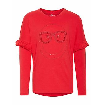 Name-It Red Girls T-Shirt Happy