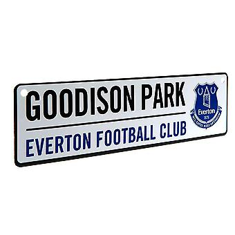 Everton FC piłce nożnej 3D tłoczone metalowe ulicy okna logowania