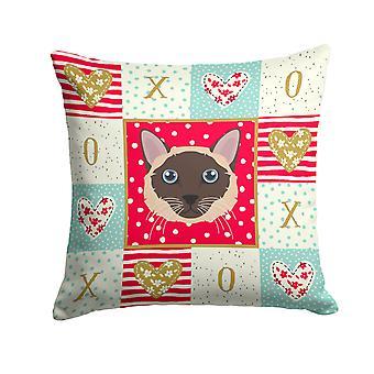 Siamese Traditional Cat Love Fabric Decorative Pillow