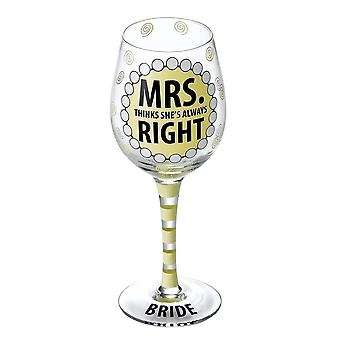 Our Name Is Mud Mrs Always Right Wine Glass