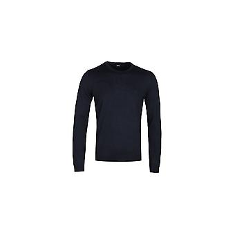 Hugo Boss Botto Cotton Slim Fit Navy Knitwear
