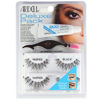 Ardell Deluxe Pack False Eyelashes Wispies Black