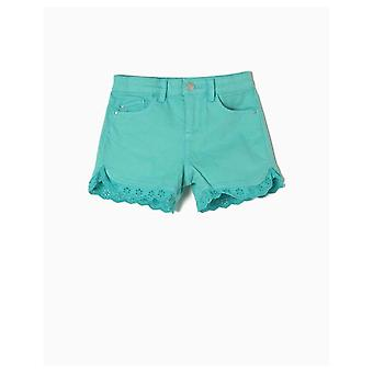 Zippy Shorts Denim Turquoise
