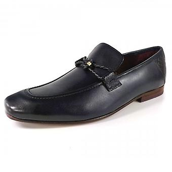Ted Baker Siblal Leather Loafers Dark Blue