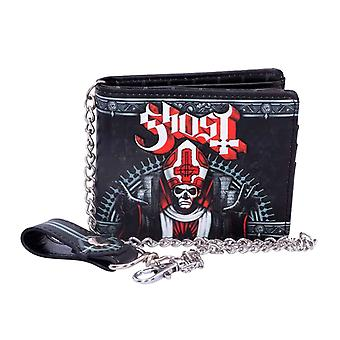 Ghost Wallet Red Papa Band Logo new Official Black Bifold with Chain