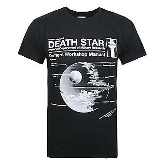 ヘインズマニュアルスターウォーズデススターウォーズメン&アポ;s Tシャツ