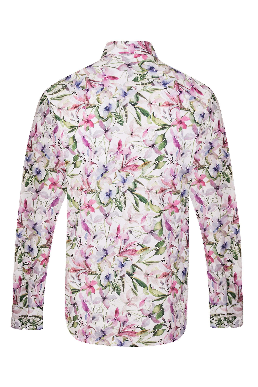 JSS Lilac Floral Regular Fit 100% Cotton Shirt