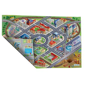 Achoka Reverse Two Sided District/City Road Playmat 100 x 150cm Per i bambini