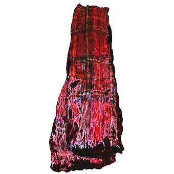Tartan silke fløjls kollektion tørklæde af Ladycrow Skotland-rød