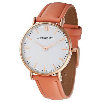 Andreas osten Quartz Analog Woman Watch with AO-235 Cowskin Bracelet