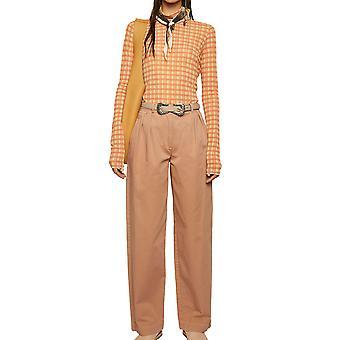 Acne Studios Ak0218acx Women's Pink Cotton Pants