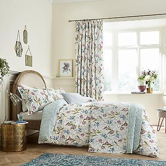 Spring Tulips Floral Bedding And Pillowcase Par V et A In Aqua