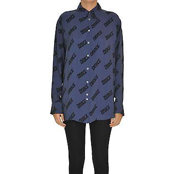 Acne Studios Ezgl151036 Donne's Camicia di cotone blu
