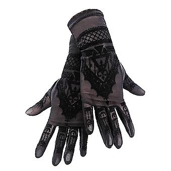 Restyle - mănuși henna - mănuși gotic ochiurilor de plasă cu model mehndi