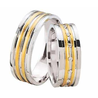 Wedding rings bicolor