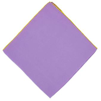 Michelsons of London Shoestring Border Handkerchief - Lilac/Yellow