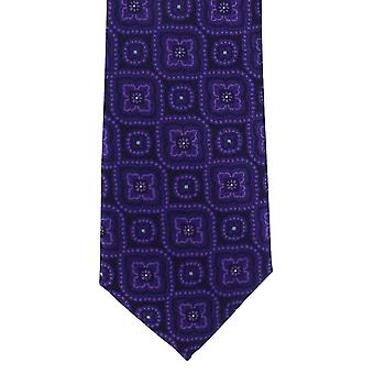 Michelsons of London Traditional Medallion Polyester Tie - Purple