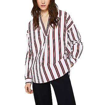 Esprit Women's Striped Henley Blouse